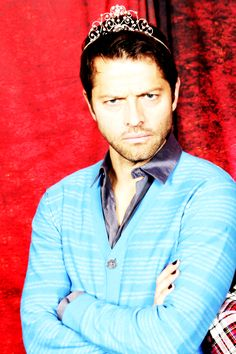 Misha. In a tiara. Wearing nail polish. This is a high level of sophistication right here.