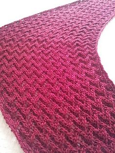Cherry wrap - Free Ravelry pattern - highly textured shawl knit in Fyberspates Scrumptious DK (which I just happen to have in my stash :-)