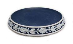 Wedgewood Jasperware Dark Blue Trivet from Woodstock Antiques