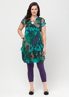 Big Women Clothing | Ladies Plus Size Clothes Online Australia - EMERALD CITY DRESS - TS14