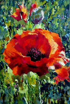Acrylic Flowers, Abstract Flowers, Acrylic Art, Watercolor Flowers, Watercolor Paintings, Art Floral, Watercolor Landscape, Beautiful Paintings, Flower Art
