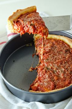 Chicago Style Deep Dish Pizza » Sugar and Grace