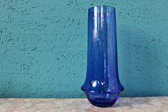 Tall Blue Riihimaki / Riihimaen Lasi Oy Vase by Tamara Aladin by Hiddenintherafters on Etsy