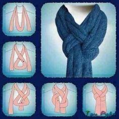 вязаные шарф как завязать (1)