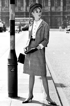 Jean Shrimpton photographed by John French for Vanity Fair, 1962.
