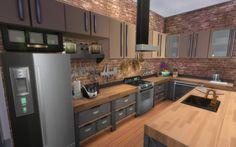 Kitchen - Industrial Loft   19 Culpepper House, Spice Market   San Myshuno. Sims 4 House Plans, Sims 4 House Building, Loft Industrial, Kitchen Industrial, San Myshuno, Sims 4 Kitchen, Sims 4 Bedroom, Sims 4 House Design, Casas The Sims 4