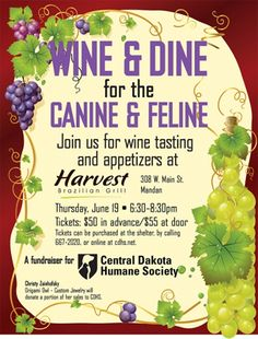 animal fundraiser wine tasting | Do you have your tickets??!!Come join us for a wine tasting fundraiser ...
