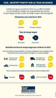 Le CICE a eu un impact positif sur le taux de marge des entreprises dès son entrée en vigueur en 2013. C'est l'un des enseignements de l'étude Les entreprises en France, publiée par l'Insee en octobre 2015.