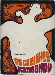 Os caminhos de Katmandu, Barjavel, Portucalense Editora, design Dario Alves, 1970