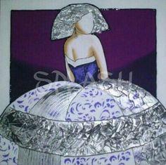 Menina con fondo morado y malva- 3 SP766 #cuadros de meninas# cuadros # cuadros de Meninas modernas# cuadros modernos# cuadros baratos# Cuadros Splash# tiendas de cuadros#