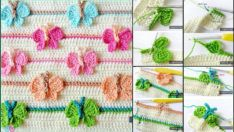 Kelebekli Bebek Battaniye Yapımı Resimli Gösterim