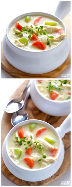 Homemade Cream of Chicken Soup -- creamy, comforting, healthier, and totally homemade | gimmesomeoven.com