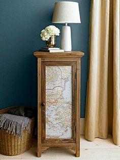 ideas para actualizar muebles con papel pintado   Bohemian and Chic