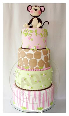 Ahhh adorable! This cake is the winner for Ashley's shower. I'll modify it to two layers.