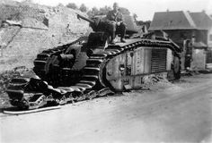 Disabled French Char B1 1940
