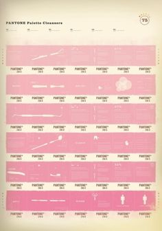The ever-famous pink Pantone Palette Cleansers poster by Alex Cornell Free Photoshop, Photoshop Tutorial, Pretty In Pink, Vintage Poster, Vintage Ads, I Believe In Pink, Everything Pink, Color Theory, Pantone Color