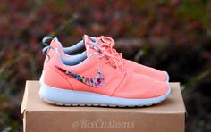 CHRISTMAS SALE Coral Pink Roshe Run Floral Custom by rixcustoms