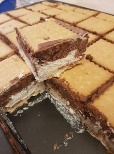 Greek Sweets, Greek Desserts, Cold Desserts, Frozen Desserts, Summer Desserts, Just Desserts, Sweets Recipes, Candy Recipes, Baking Recipes