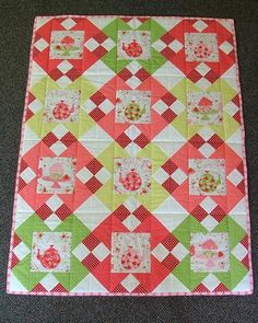 Looking for your next project? You're going to love Strawberries and Tea Cot Quilt by designer Sew Well Maide. - via @Craftsy