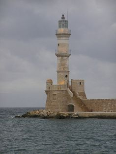 Chania lighthouse, Island of Crete, Greece
