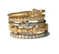 Megan Thorne Wood Nymph Stack Rings #stjohnsjewelers #meganthorne