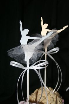Ballerina Cupcake Toppers by ThePaperLot on Etsy, $18.00
