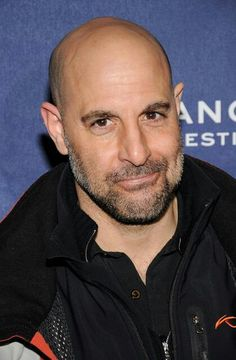 Stanley Tucci -- maybe the best character actor, ever. Luv him The Hunger Games. See him in Fortitude. Moustaches, Actors Male, Actors & Actresses, Stanley Tucci Movies, Bald Men, Best Supporting Actor, Hollywood, Famous Faces, Bearded Men