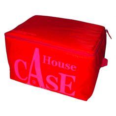 House Case Nylon Rouge et Rose Fluo