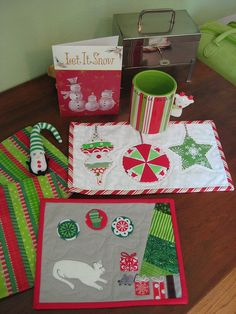 Received from Friedazzzzz, Holiday Mug RUGS and loot! by FlossieBlossoms, via Flickr