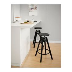 DALFRED Bar stool  - IKEA...$39.99 two at your bar..or use as plant stands! (They are height adjustable.)