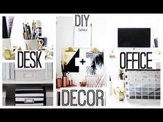 DIY Desk + Office Decor | Anthropologie + Kate Spade Inspired - YouTube