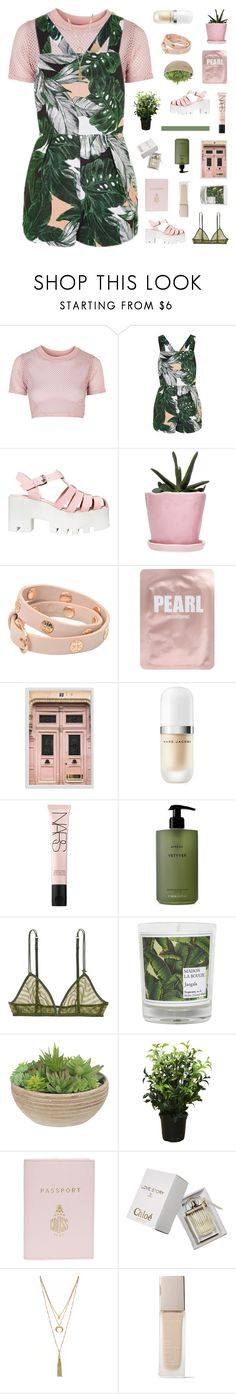 """penelope"" by ughtara ❤ liked on Polyvore featuring Topshop, Windsor Smith, Dot & Bo, Tory Burch, Lapcos, Pottery Barn, Marc Jacobs, NARS Cosmetics, Byredo and LoveStories"