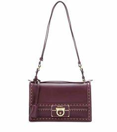 b35d9e70c9 Salvatore Ferragamo - Aileen embellished leather shoulder bag -  mytheresa.com Leather Shoulder Bag