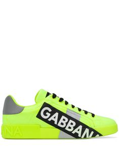 Dolce & Gabbana, Baskets, Yellow Leather, Sport Casual, Fashion 2018, Lace Up, Front Lace, Calf Leather, Sneakers