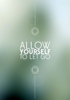 the art of letting go...