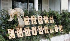 Decoration Merry Christmas for hedge chrismas