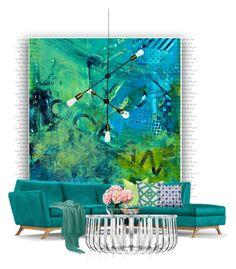 Hyland... by gloriettequartet on Polyvore featuring interior, interiors, interior design, home, home decor, interior decorating, Joybird Furniture, Kartell, Lab and Dot & Bo