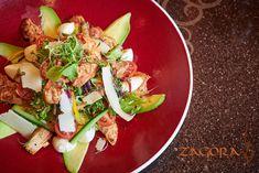 Zagora Grill Room – The Royal Elephant Hotel & Conference Centre Spicy Prawns, Buffalo Mozzarella, Chicken Salad, Lettuce, Cos, Cobb Salad, Onion, Grilling, Avocado