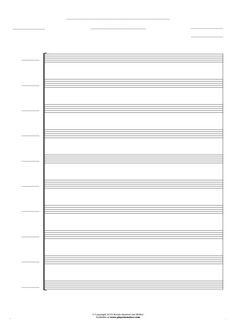 Free Blank Sheet Music sheet music by Jan Walter. Part: Score for 10 voices.