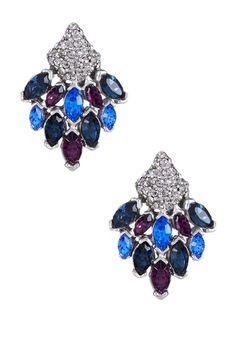 Swarovski Multicolor Chandelier Post Earrings
