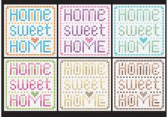 """Home Sweet Home Cross Stitch Vectors -   Cross stitch is a great technique to create original elements like this set of """"Home sweet home"""" templates, useful to decorate your blog, web, shop, publications, flyers, etc. with sewing, hand-made, clothes and fashion topics.  - https://www.welovesolo.com/home-sweet-home-cross-stitch-vectors/?utm_source=PN&utm_medium=weloveso80%40gmail.com&utm_campaign=SNAP%2Bfrom%2BWeLoveSoLo"""
