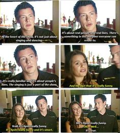 Cory monteith and Lea Michele :D