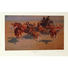 Downing the Nigh Leader by Frederic Remington