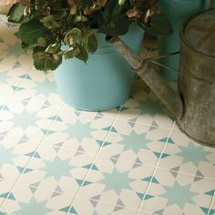 Add pattern with ceramic tiles   flooring   country   Country Homes  Interiors