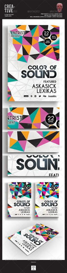 Creative Flyer/Poster — Photoshop PSD #abstract #dj • Available here → https://graphicriver.net/item/creative-flyerposter/5078563?ref=pxcr