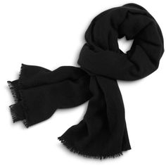 Cole Haan Cashmere Scarf-Portolano ($100) ❤ liked on Polyvore featuring accessories, scarves, black, black cashmere shawl, black scarves, cole haan, cashmere shawl and cashmere scarves
