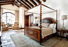 Lake Conroe Spanish - mediterranean - bedroom - austin - JAUREGUI Architecture Interiors Construction