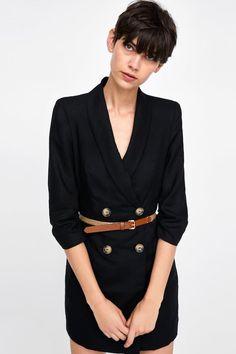 Image 2 de ROBE VESTE À CEINTURE de Zara Robe Avec Veste, Ceinture, Semi e4719055e7ed