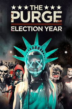 The Purge: Election Year Movie Poster - Frank Grillo, Elizabeth Mitchell, Mykelti Williamson  #ThePurge, #ElectionYear, #FrankGrillo, #ElizabethMitchell, #MykeltiWilliamson, #JamesDeMonaco, #Horror, #Art, #Film, #Movie, #Poster