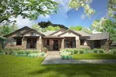 3 Bed House Plan with Dynamic Outdoor Living - 16894WG | European, Hill Country, Ranch, Southwest, 1st Floor Master Suite, Bonus Room, Butler Walk-in Pantry, Den-Office-Library-Study, Corner Lot | Architectural Designs